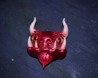 Handmade monster necklace charm