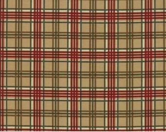 Forever Green Plaid Tan, 1/2 yd. cuts