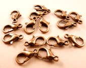 Lobster Clasp Antique Brass Lobster Clasp Brass Findings Brass Clasp Metal Clasp Brass Beads