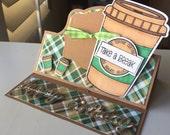 Happy Birthday coffee lover Handmade Greeting Card