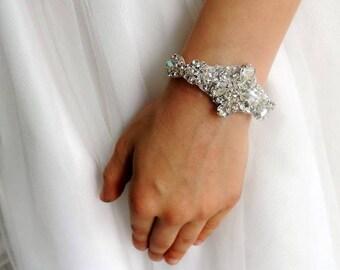Nini baby rhinestone baptism party flower girl bracelet