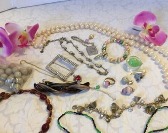 Destash Assortment of Mixed Crafting Jewelry Supply Findings DIY Supply
