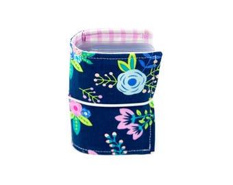 Navy Floral - Washi Wallet