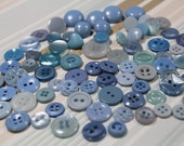 Blue Plastic Buttons 78 Baby Blue Plastic Crafting Sewing Buttons