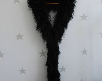 Ostrich feather boa, vintage ostrich feather boa, 20s feather boa, burlesque ostrich feather boa