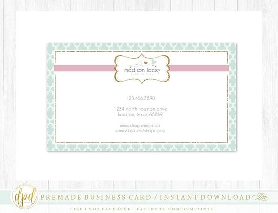 Custom Premade Blank DIY Single Sided Business Card | Business Template | Business Branding | Business Graphics | INSTANT DOWNLOAD-AG878
