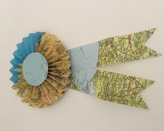 Hand Made Map Ribbon