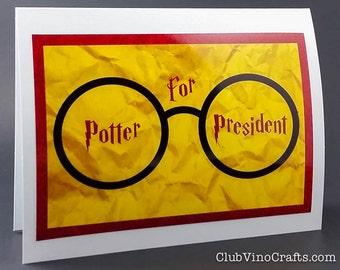 Harry Potter Greeting Card - Potter for President