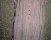 Vintage Pale Pink Cotton Nightgown