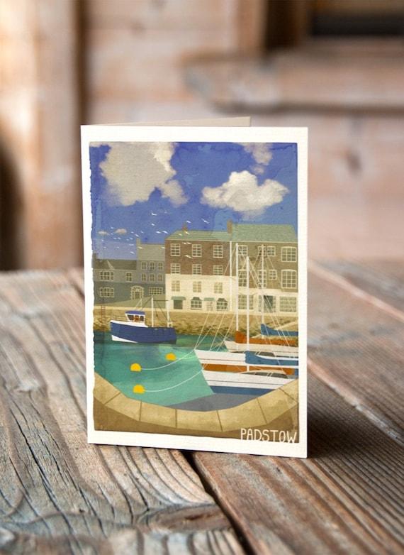 Cornish Coasts - Padstow Greetings Card