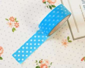 Blue Candy Dots masking paper tape