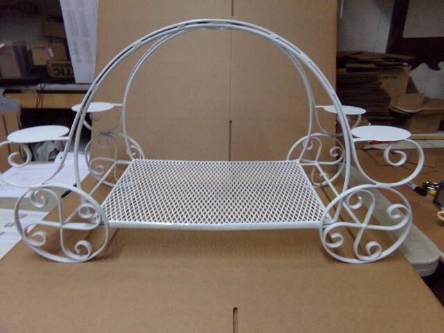 Princess Pumpkin Carriage Wedding Birthday Cake Display Stand