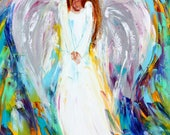 Reserved for Katie Custom original oil painting angel 18x24 - final payment