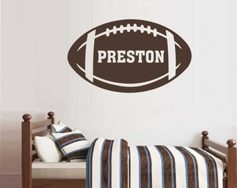 Football Name Decal, Custom Football, Vinyl Wall Lettering, Vinyl Wall Decals, Vinyl Decals, Vinyl Letters, Wall Quotes, Sports Decal