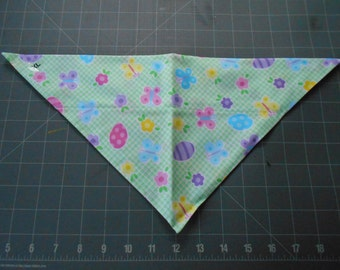 Easter Dog Bandana, Neckerchief, Eggs, Butterfly, Flower