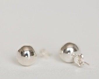 Sterling silver stud earring, Sterling silver Studs,Sterling silver stud earrings,  silver studs, silver ball studs,  silver post earrings