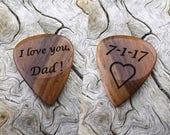 Custom Order - Handmade California Apricot Wood - Laser Engraved Premium Guitar Pick
