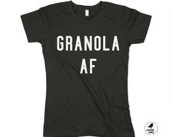 Keep it granola, granola af, granola shirt, health shirt, Health food, boho shirt - small, medium, large, xl (3 color options)