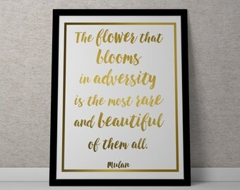 Poster / Print - Mulan Quote - 3 Sizes Available