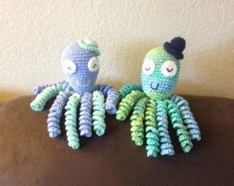 Crochet Octopus for Preemie Babies, Crochet Octopus Preemie Baby Comfort Toy, Therapeutic Octopus, Newborn Octopus, Baby's First Easter Gift