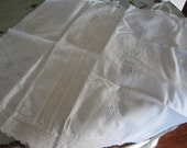 Vintage Baby Pillowcases Set of 3 Lace Embroidery Smaller Sized Pillow Cases Beautiful