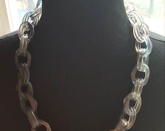 Vintage Lucite Chain Link Necklace