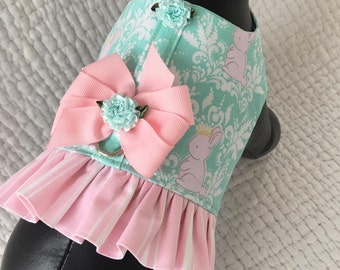 Easter Dog Ruffled   Harness Vest for Girl Dog Custom Made