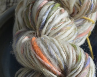 "Hand spun yarn ""Papyrus'   82 yards; 3.6 oz.  *Deep Discount*"