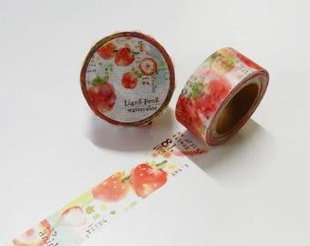 Liang Feng Strawberry Mint washi tape Liang Feng 25mm x 10M