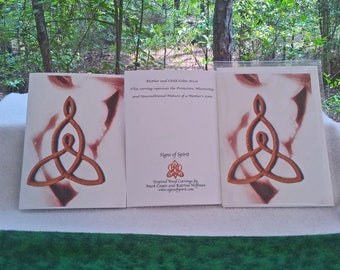 Mother and Child Celtic Love Knot Greeting Card - Brown Hue