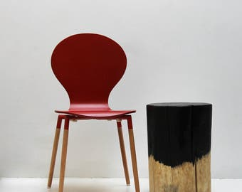 Black Drip Tree Stump Side Table Stool
