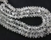Crystal Quartz Carved Melon (Quality B) / 8 to 13 mm / 36 cm / CR-040