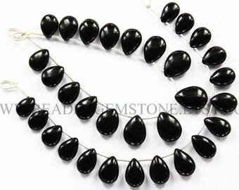 Black Onyx Smooth Pear (Quality AAA) / 9.00x12.50 to 12.50x17.00 mm / 18 cm / BLA-029