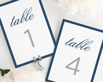 Sophisticated Modern Table Numbers - 5x7""