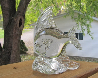 Heisey Glass Fish Bookend #1554 1942 - 1952