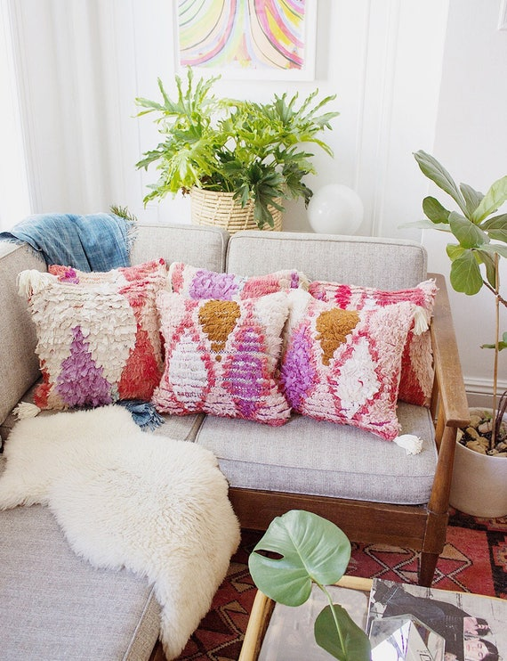 Pink Azilal Pillow No 1