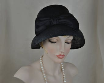 Elegant Ladies Black Tea Hat