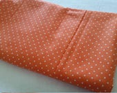 Moda tangerine pin dots - end of bolt