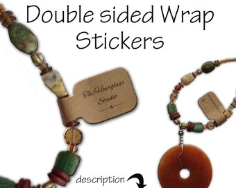 Stickers, Fold Over Stickers, Self Adhesive Stickers, Jewelry Stickers, Barbell Stickers, Bracelet Stickers, necklace Stickers