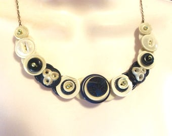 Classic in Navy button jewelry