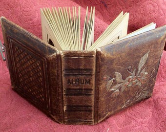 "Victorian Leather Album for CDVs / Tintypes - Empty - 5"" x 6"""