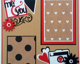 Couples scrapbook page - Boyfriend scrapbook - Valentines day scrapbook - Engagement scrapbook - Engagement photos - Anniversary scrapbook