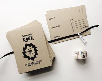 hear me roar postcard set - getting your voice heard
