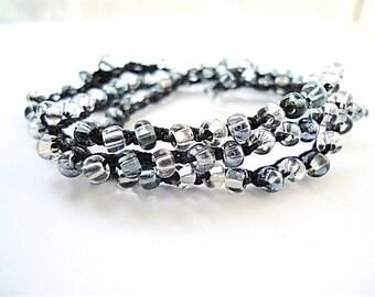 Crochet Boho Jewelry - Beach Summer Bracelet - Jewelry Crochet Wrap - Summer Bracelet - Seed Bead Bracelet - Bracelet Crochet - Bead Wrap