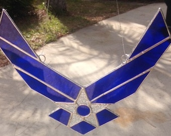 Air Force Logo in Stained Glass