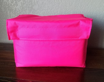 HOT PINK Camera Bag Insert with Flap - Adjustable Divider - Size 5x10x7 - INSTOCK
