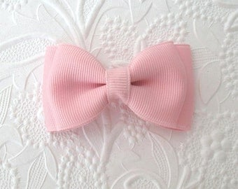 Toddler ~ Baby Hair Bow ~ Light Pastel Pink Toddler Boutique Hair Bow Clip