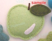Felt hair clip -No slip -Wool felt -New apple -spring SAMPLE