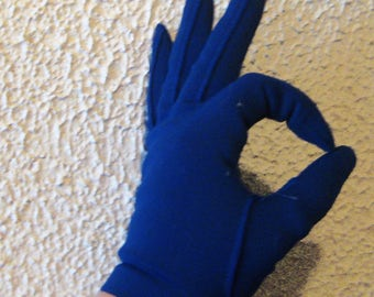 My Hands Look Great Vintage Colbalt Blue Driving  Gloves