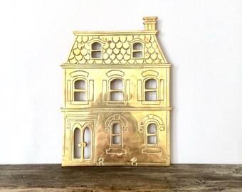 Solid Brass house Trivet / Cutout Brass house Trivet